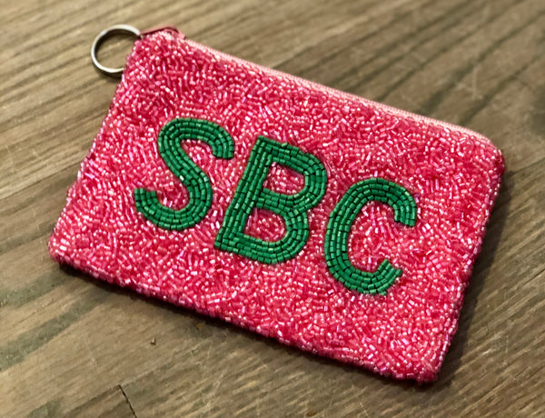 Sweet Briar College Beaded Coin Purse