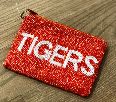 Clemson Tigers Beaded Coin Purse