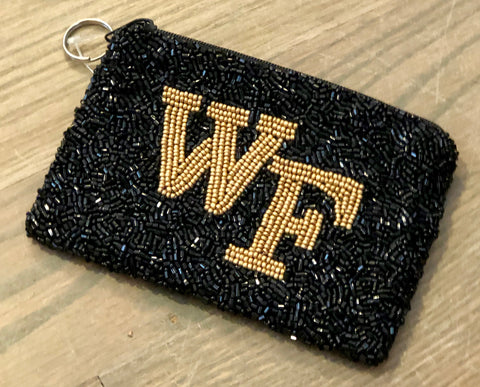 Wake Forrest Beaded Coin Purse