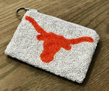 University of Texas Beaded Coin Purse