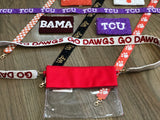 Beaded College Gameday Strap for Clear Bag