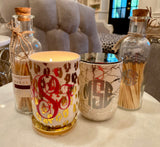 Gold Metallic Candle - Monogrammed