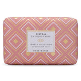 Mistral Rose Water Jewels Bar Soap