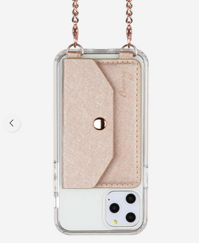 Crossbody Phone Pocket in Rose Gold