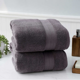 White / Grey Charisma Towel Set