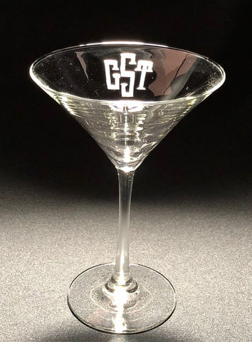 Engraved Martini Glassware