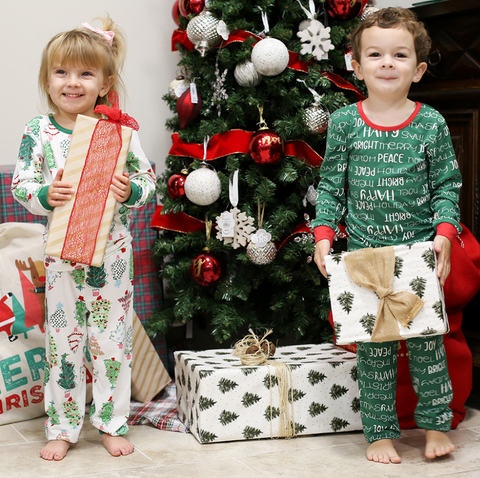 Ho Ho Ho Green Xmas Pajamas Pants - Youth Sizes