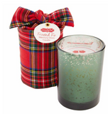 Tartan Wrapped Mercury Candle - 3 Christmas Scents