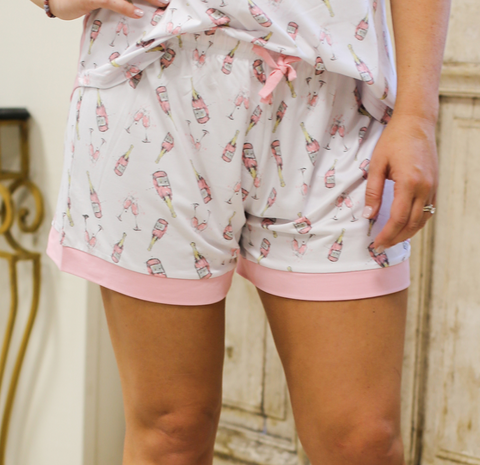Champagne Dreams Pajama Shorts