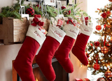 Large Velvet Christmas Stocking