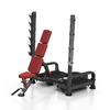 Adjustable Flat / Incline Olympic Bench / Squat Stand (Convertible)