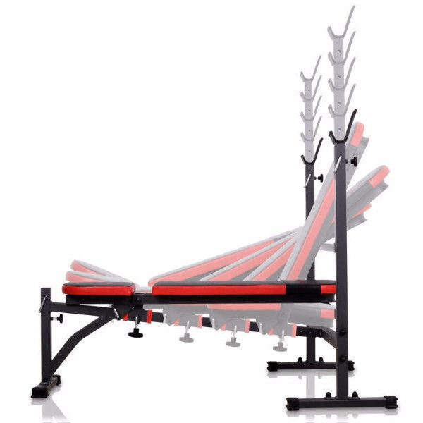 Adjustable Incline / Flat / Decline Bench With Racks