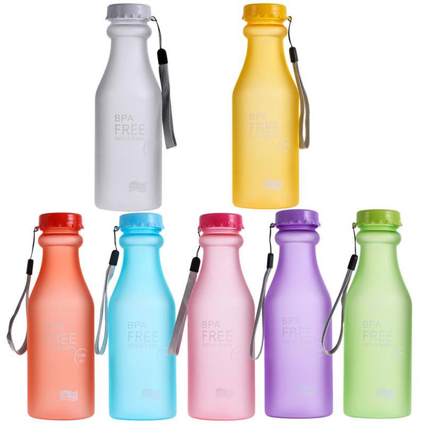 BPA Free Portable 550ml Sports Water Bottle with Leak-proof