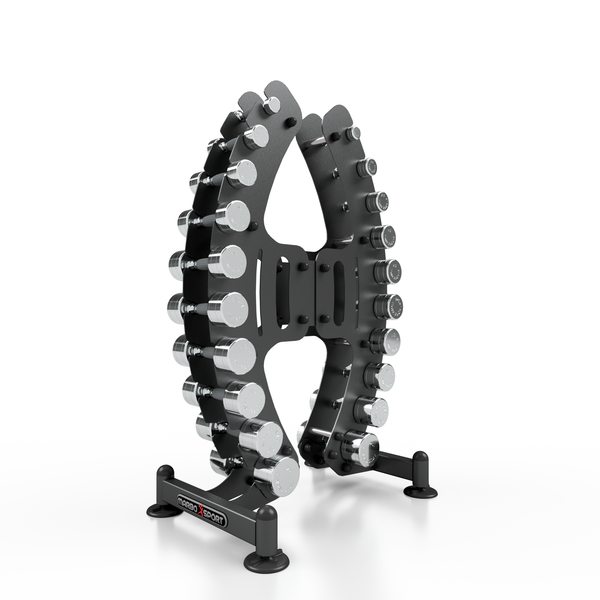 Chrome Dumbbell Set With Stand 1-10 kg (1 kg Incremental)