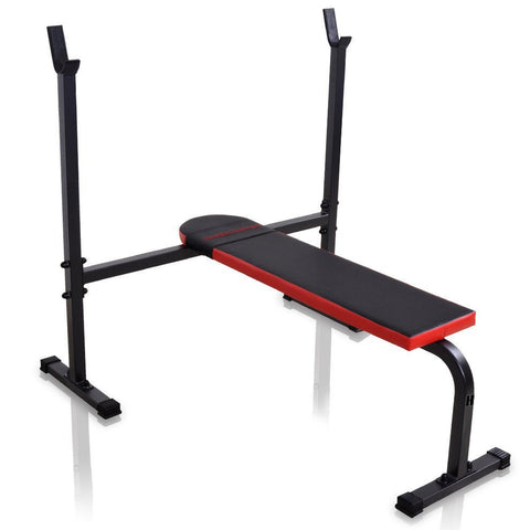 Flat Exercise Bench With Racks