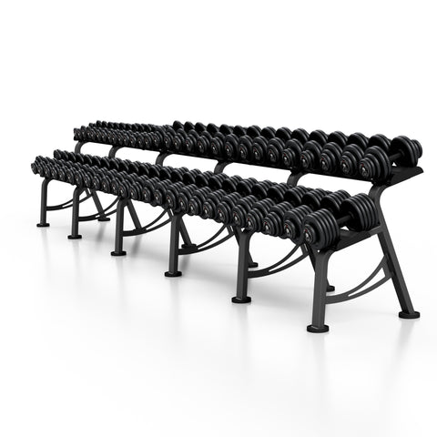 Iron Dumbbell Sets With Rack 4-26; 4-36; 4-46; 4-56 kg (2 kg Incremental)