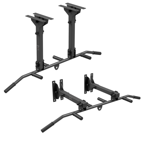 Multi Handle Pull Up and Chin Up Bar with Punch Bag Hanger (Wall or Ceiling Mountable)