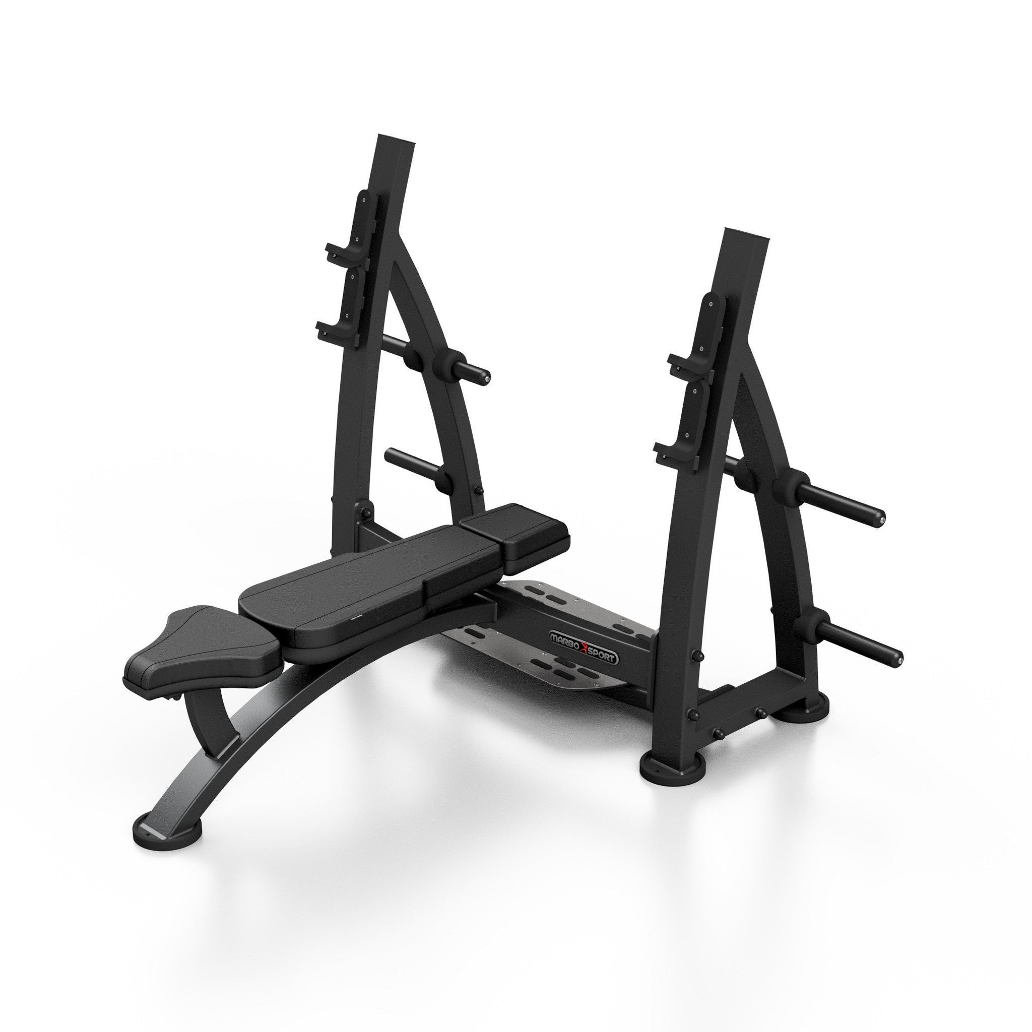 Olympic Flat Bench Press With Racks Fitness Gym Equipment Shop