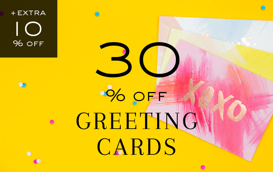 30% off Greeting Cards