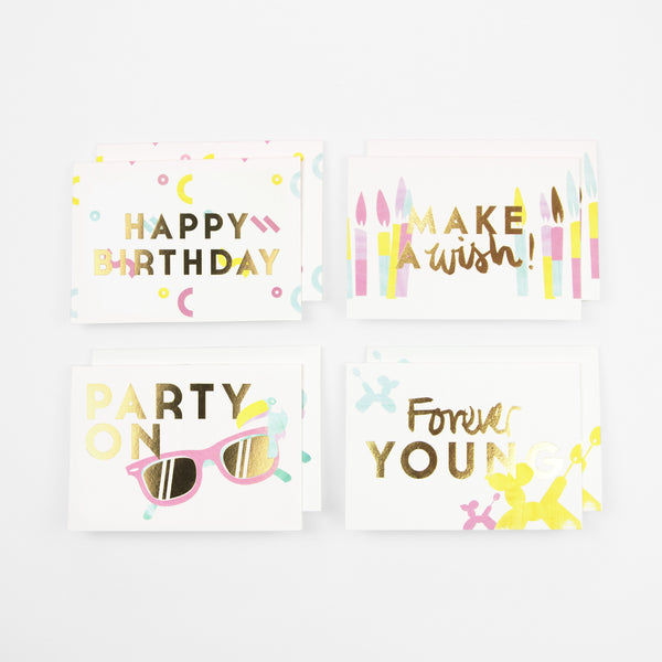 Greeting card packs taab london party on birthday cards pack of 8 bookmarktalkfo Images