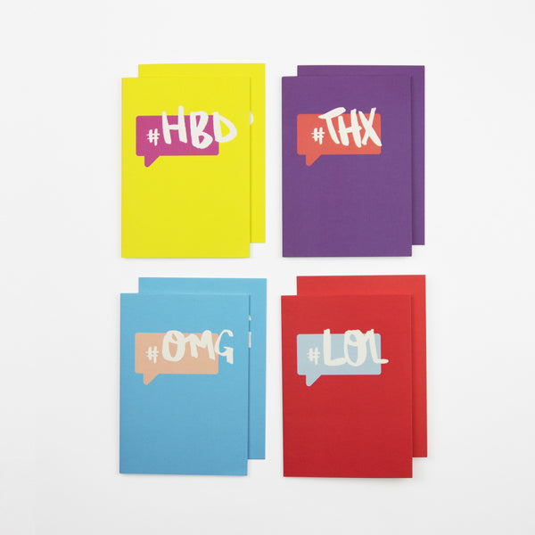 #Hashtag Cards - Pack of 8