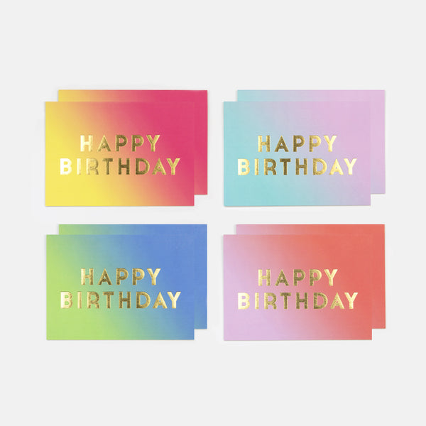 Haze Birthday Cards - Pack of 8