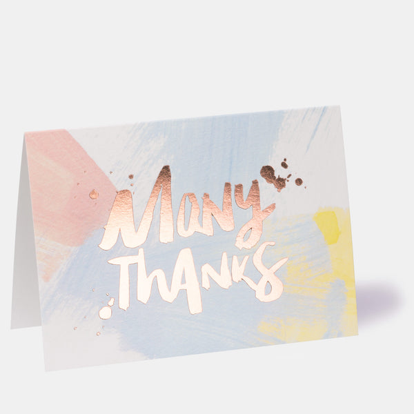 Many Thanks Card
