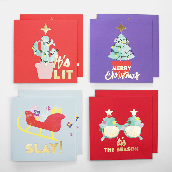 Christmas Cards - Naughty - Pack of 8