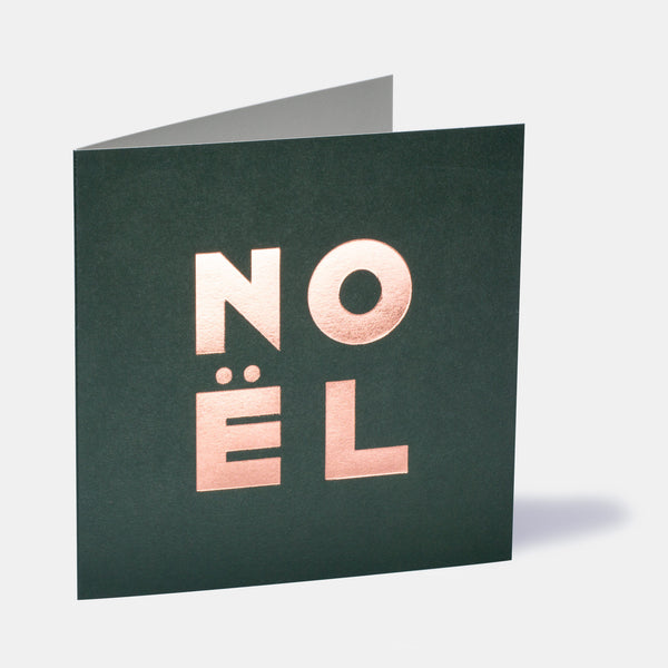 Noël Greeting Card - Forest Green
