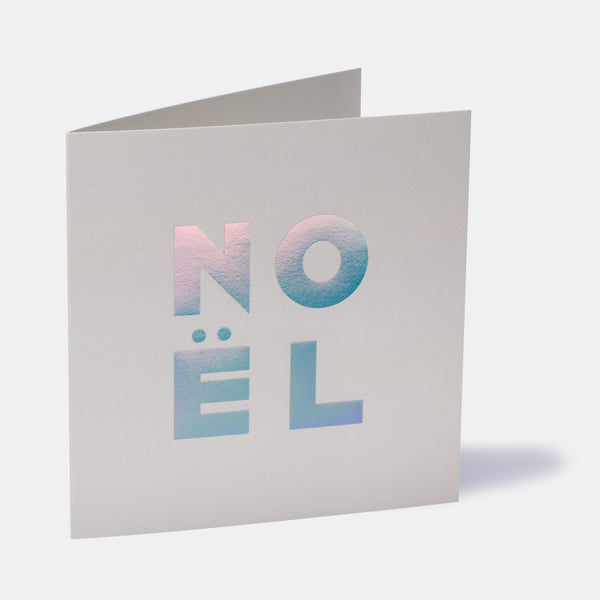 Noël Greeting Card - Snow Grey