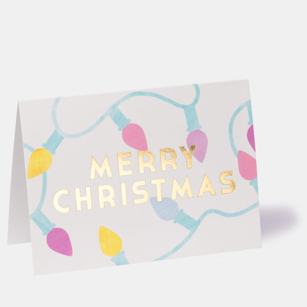 Merry Christmas Fairy Lights Greeting Card
