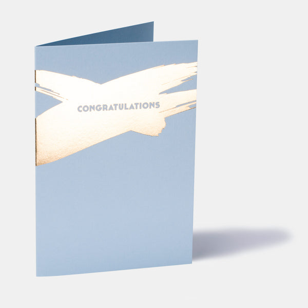 Azure Blue Congratulations Card