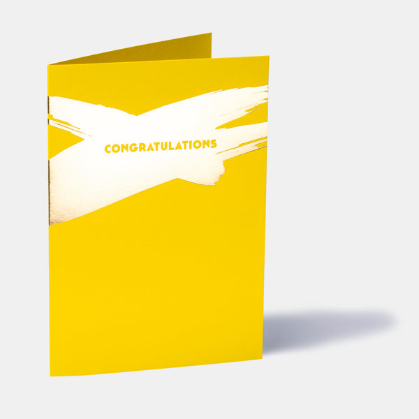 Canary Yellow Congratulations Card