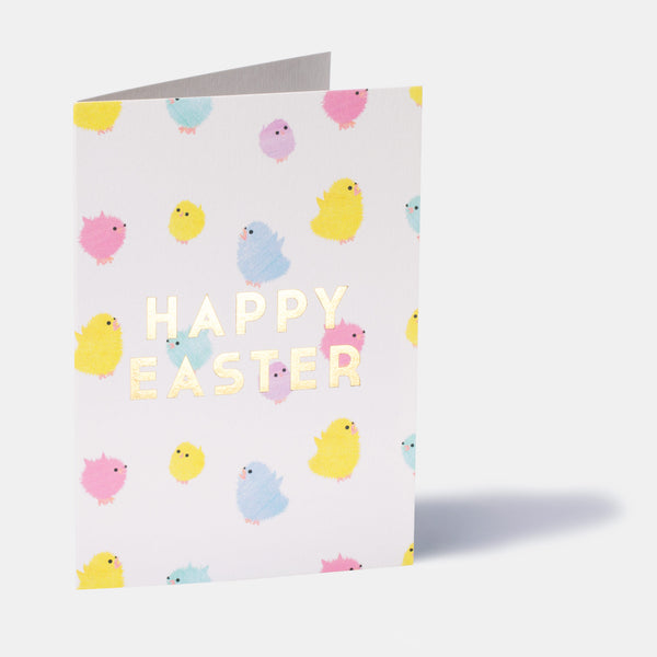 Fuzzy Chicks Easter Card