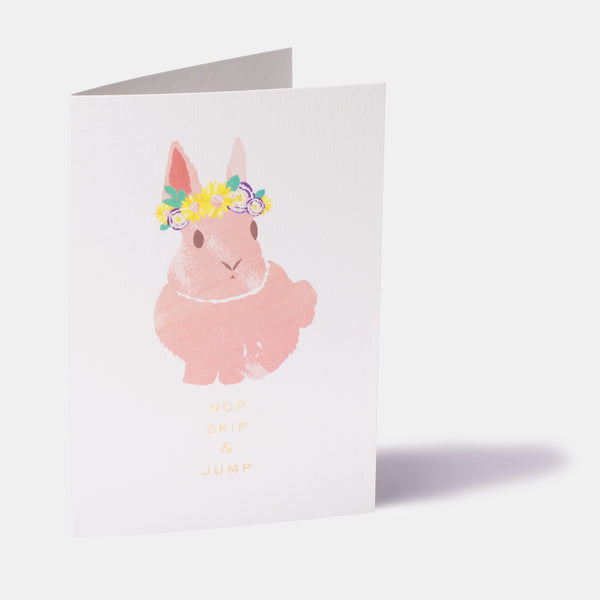 Bunny Flower Crown Easter Card