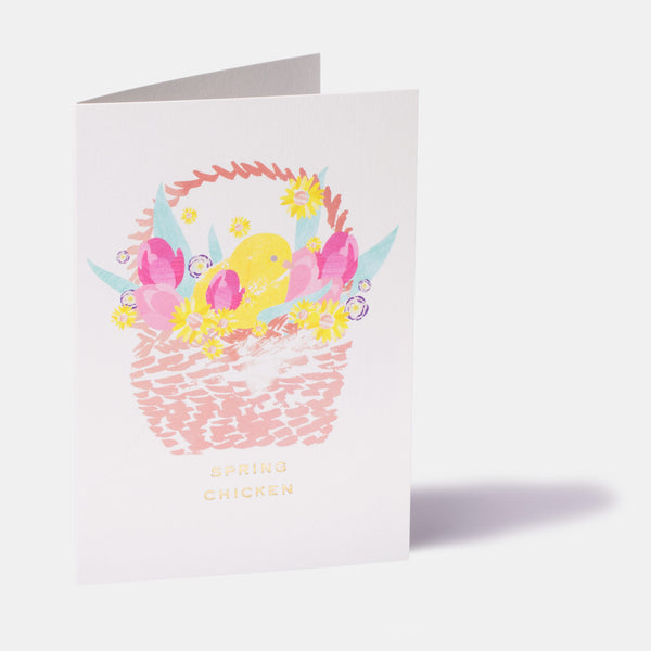 Spring Chicken Easter Card