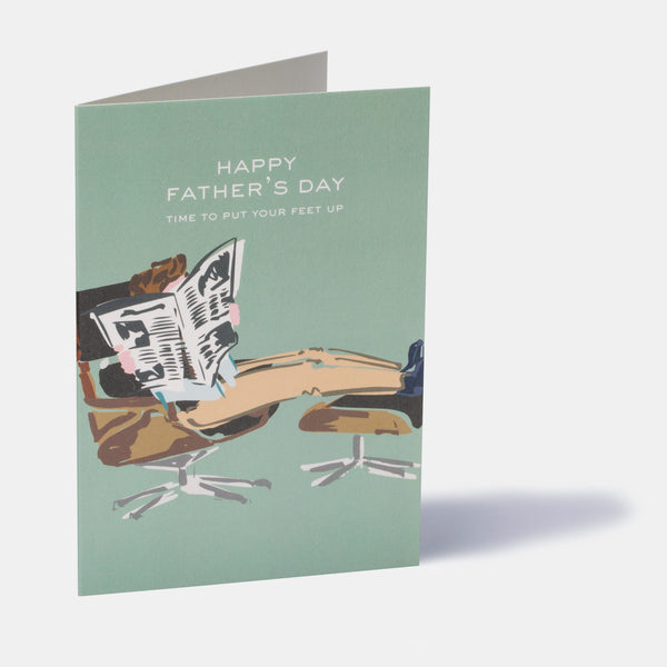 Time To Put Your Feet Up Father's Day Card