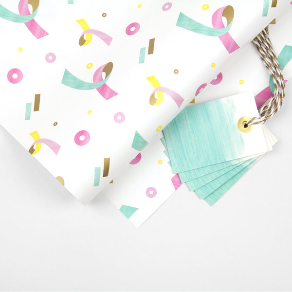 Confetti Wrapping Paper Pack + Gift Tags