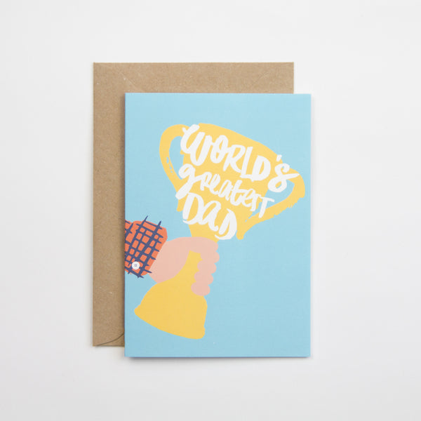 World's Greatest Dad Trophy Father's Day Card