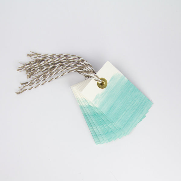 Turquoise Paint Gift Tags Pack