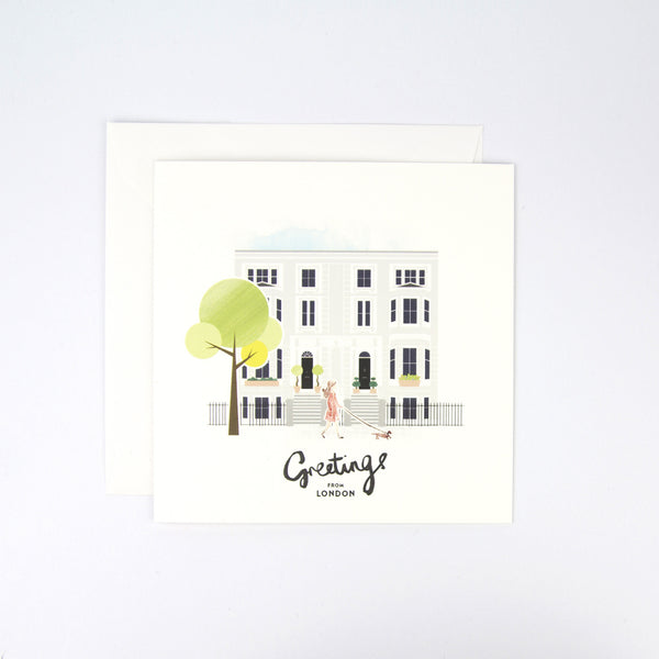 London Kensington W8 Greeting Card
