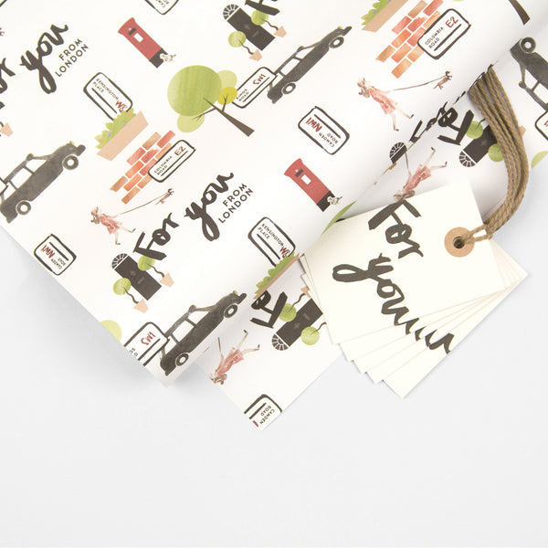 London Wrapping Paper Pack + Gift Tags