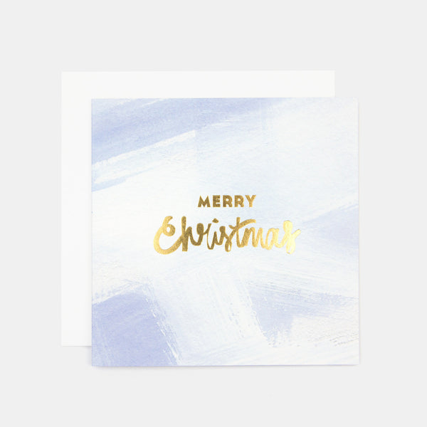 Merry Christmas Paint Greeting Card - Blue