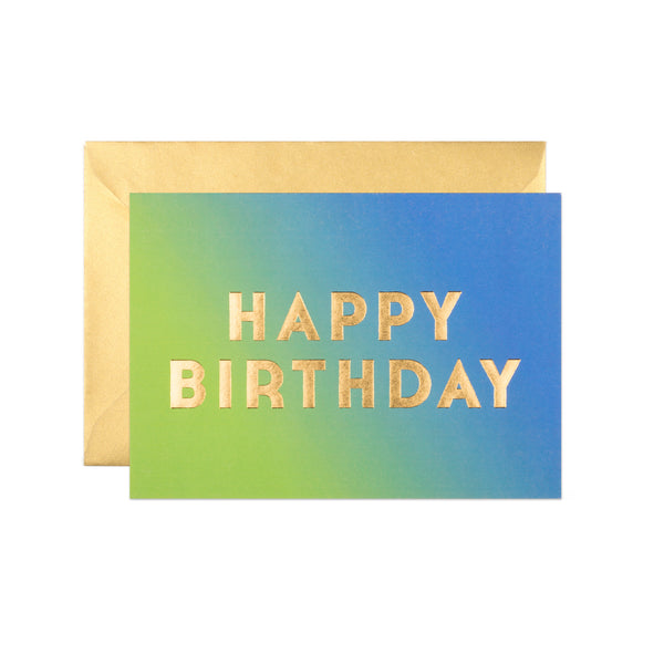 Newington Nightfall Ombre Birthday Card