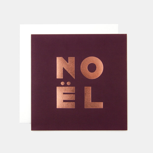 Noël Greeting Card - Berry Red