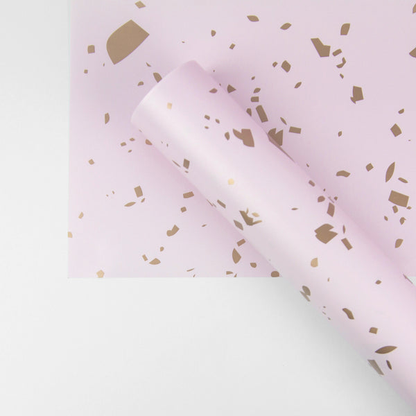 Pink Confetti Wrapping Paper