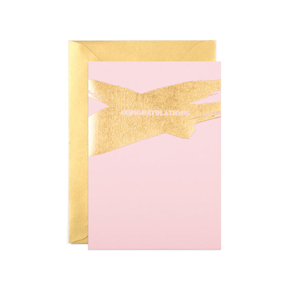 Candy Pink Congratulations Card