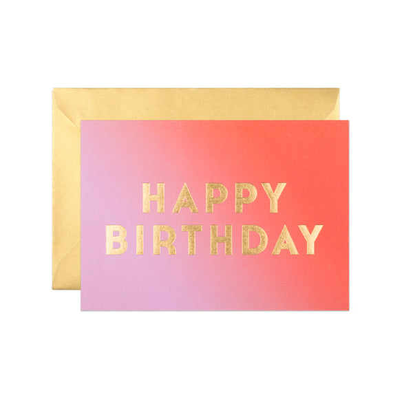 Stoke Sunrise Ombre Birthday Card