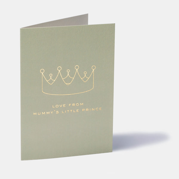 Mummy's Little Prince Mother's Day Card