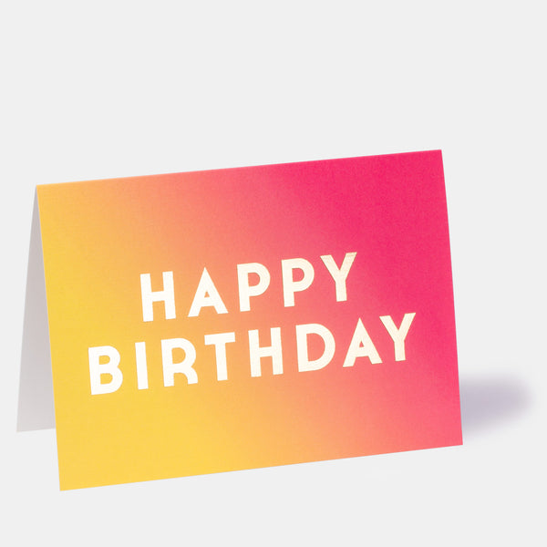 Hoxton Haze Ombre Birthday Card